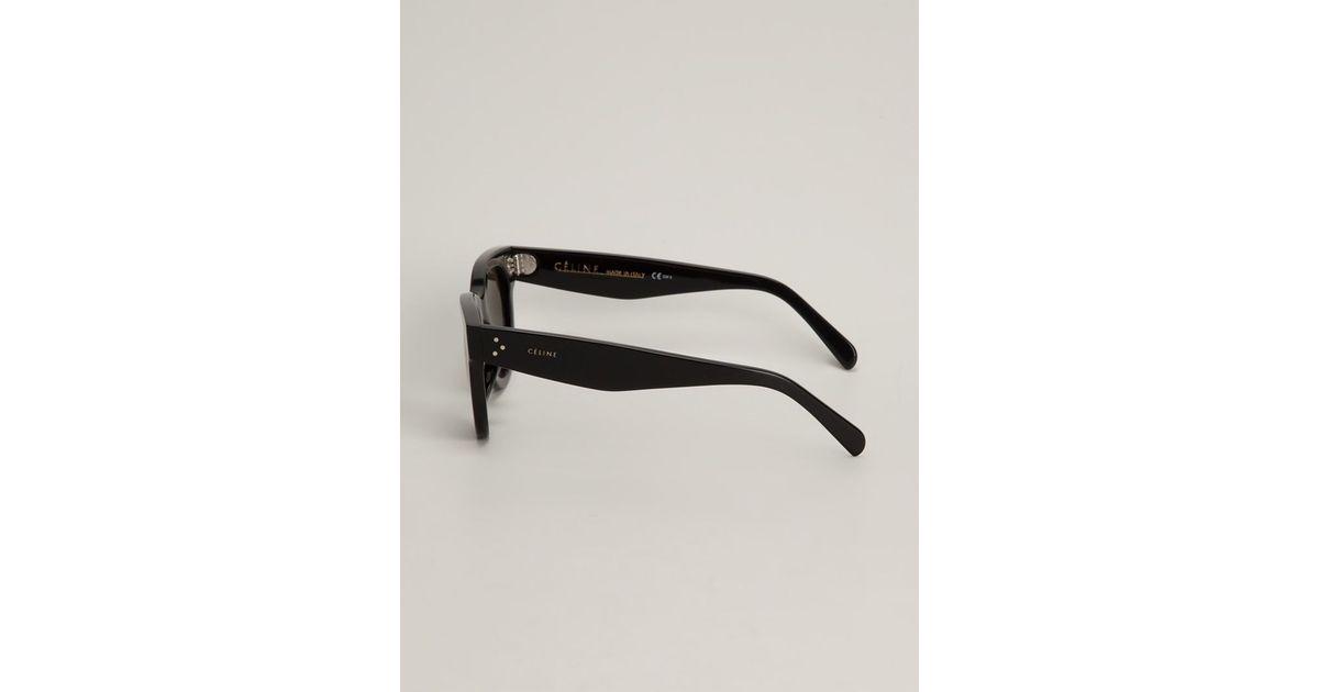 2f8ac840ab38 Lyst - Céline Wayfarer Sunglasses in Black