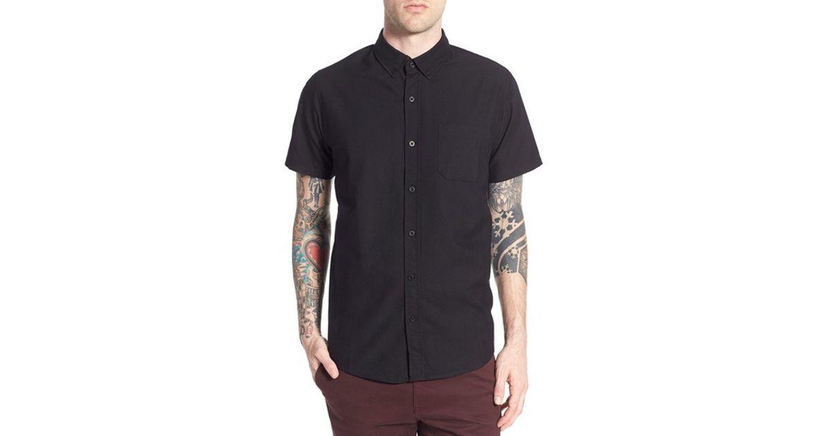 3a611dd029bc3 Lyst - Tavik  uncle  Short Sleeve Oxford Shirt in Black for Men