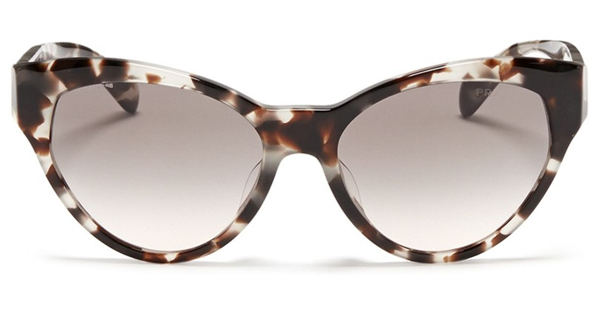 55fef602cf9 ... coupon code for prada tortoiseshell acetate cat eye sunglasses lyst  99233 54106