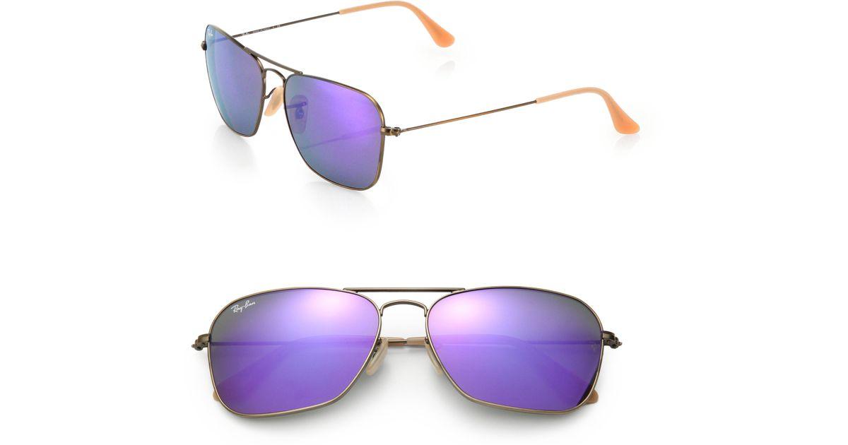 ca52c24460 Ray-ban 58mm Aviator Sunglasses in Purple for Men