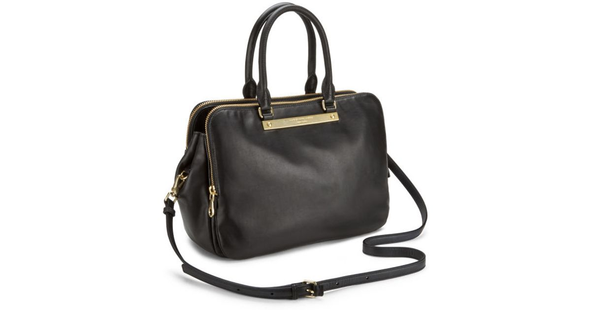 Marc By Marc Jacobs Goodbye Columbus Leather Zip Multi Compartment Tote Bag  in Black - Lyst ab18c599e5922