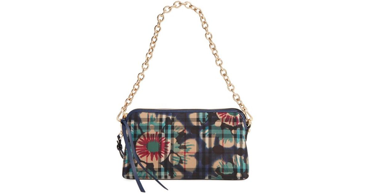 6fc6264876ec Lyst - Burberry Horseferry Chichester Printed Cross-Body Bag in Blue