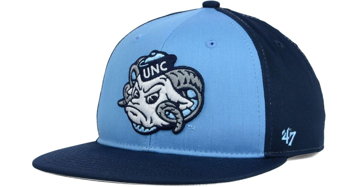 0ed4e498bf0 ... top quality lyst 47 brand kids north carolina tar heels snapback cap in  blue e40e6 28744