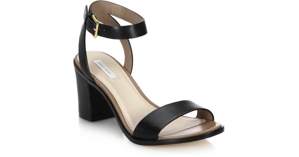 d42767fb59c3d Lyst - Cole Haan Cambon Leather Open-toe Sandals in Black