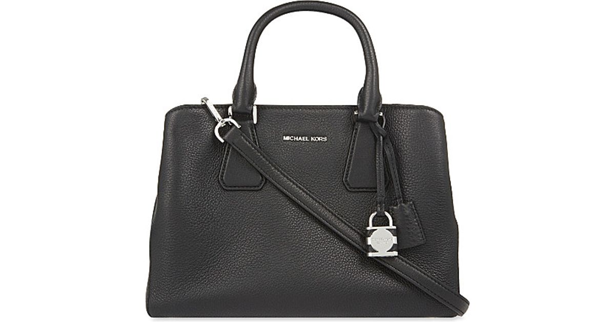 b664dfd360 Lyst - MICHAEL Michael Kors Camille Large Satchel in Black