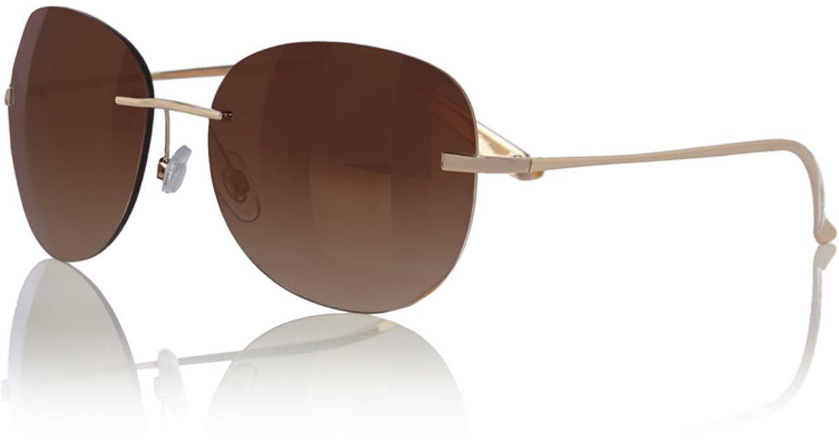71301746035 Karen Millen New Rimless Sunglasses in Metallic - Lyst