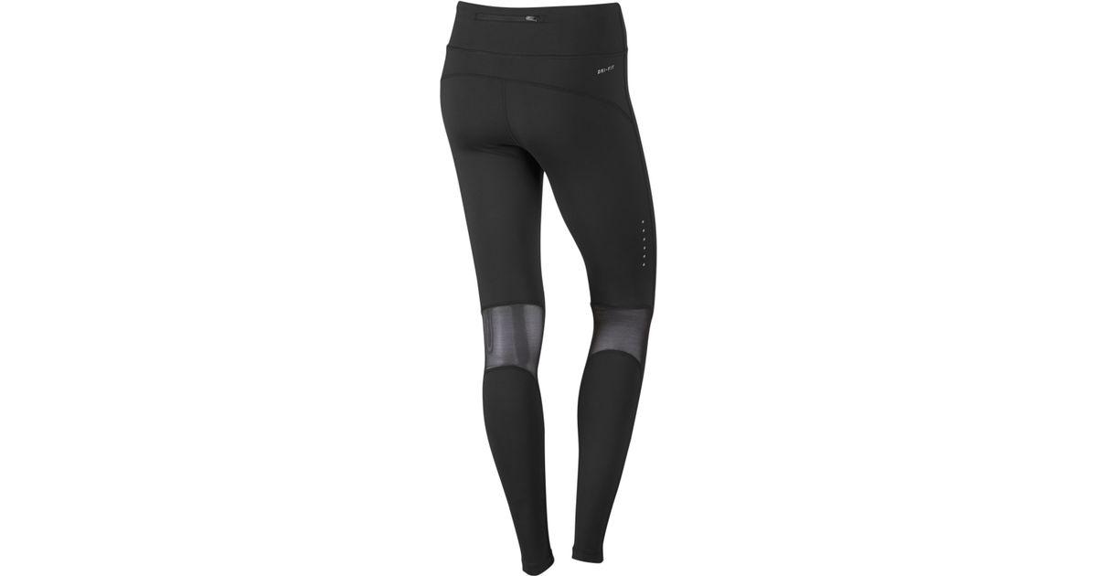 online store 4a091 9883c Nike Power Epic Lux Dri-fit Leggings in Black - Lyst