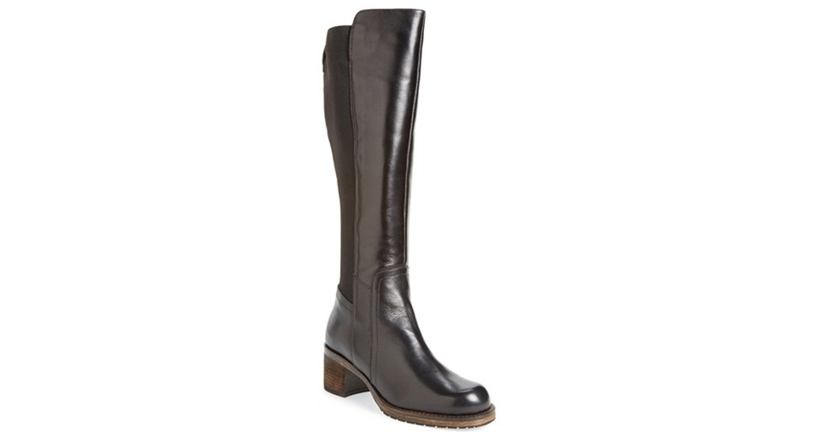 dune knee high boot in brown lyst
