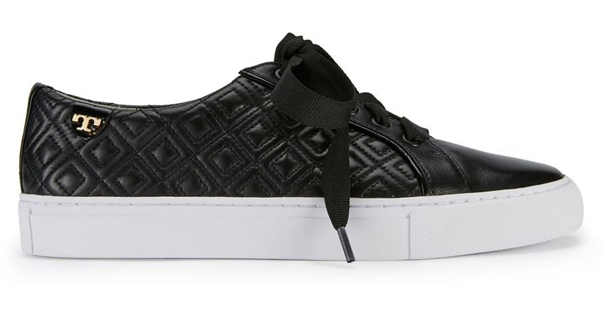 6f50bfbb02b2 Tory Burch Marion Quilted Sneaker in Black - Lyst
