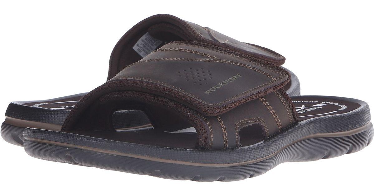 Rockport Get Your Kicks Sandals Hook And Loop Slide For