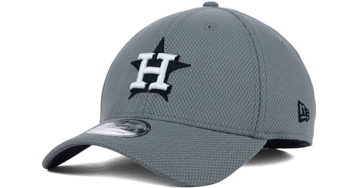 c8d81b0126c ... cheapest lyst ktz houston astros diamond era gray black white 39thirty  cap in gray for men