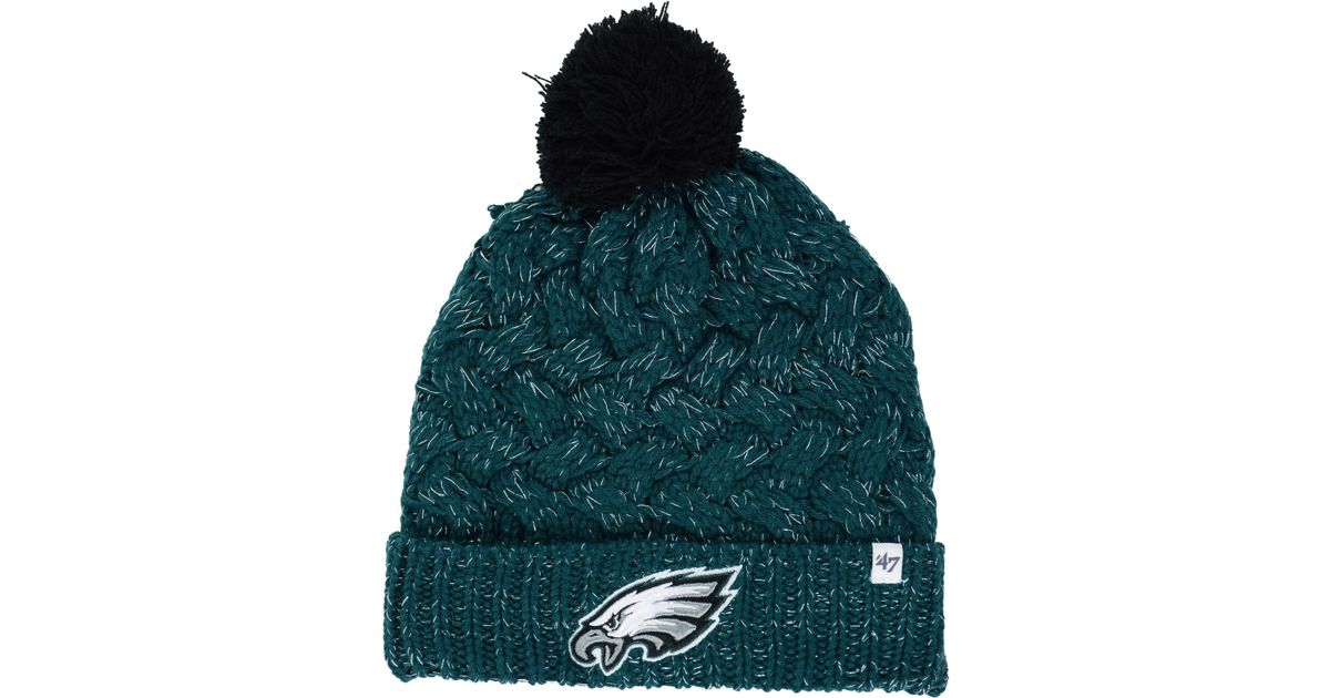 77ce69e16e778 47 Brand Women s Philadelphia Eagles Fiona Pom Knit Hat in Green - Lyst