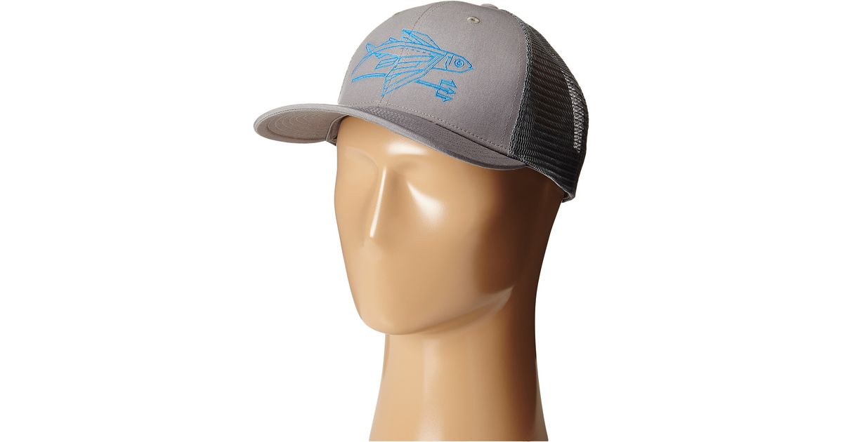 a86afc5c Patagonia Geodesic Flying Fish Trucker Hat in Gray for Men - Lyst