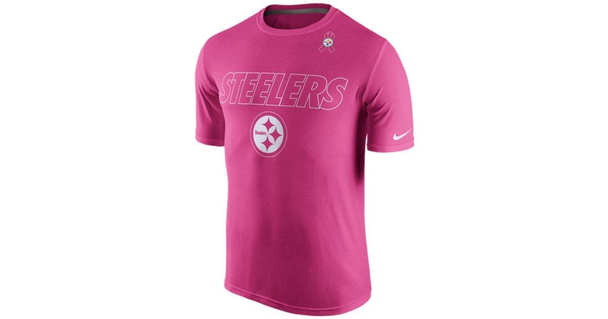 Top Nike Men's Pittsburgh Steelers Breast Cancer Awareness Legend T  supplier