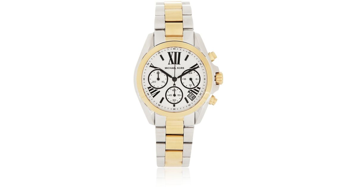 michael kors bradshaw gold and silver tone chronograph
