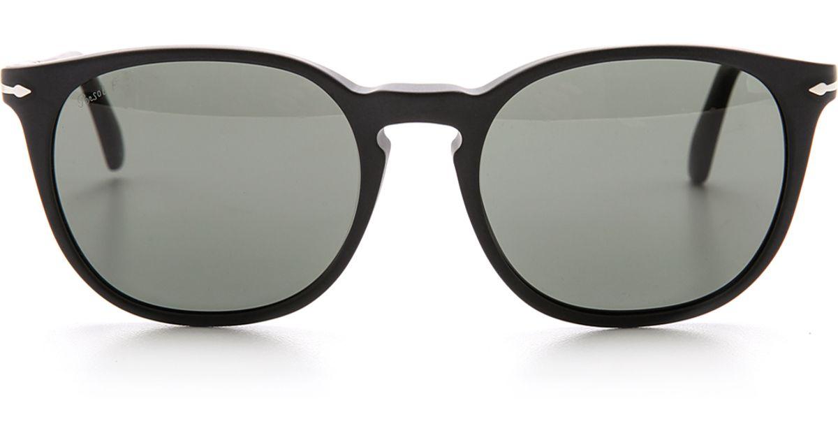 daa26dd80a Persol Polarized Classic Sunglasses in Black for Men - Lyst