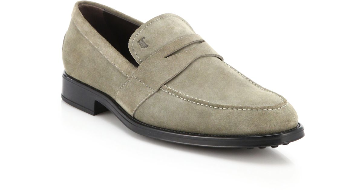 Tod'sSuede Penny Loafers bEKaU2NQ4