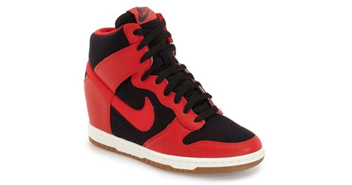 4b9b6643f4a3b0 Lyst - Nike  dunk Sky Hi - Essential  Wedge Sneaker in Black