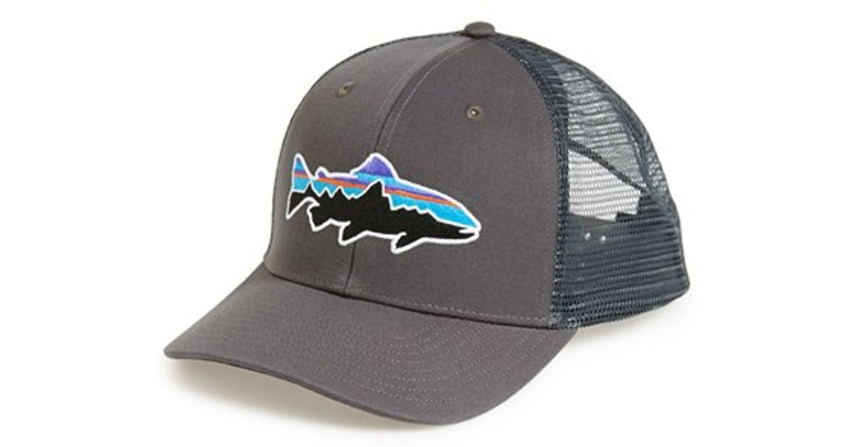 Patagonia  fitz Roy - Trout  Trucker Hat in Gray - Lyst e694ae84e6e