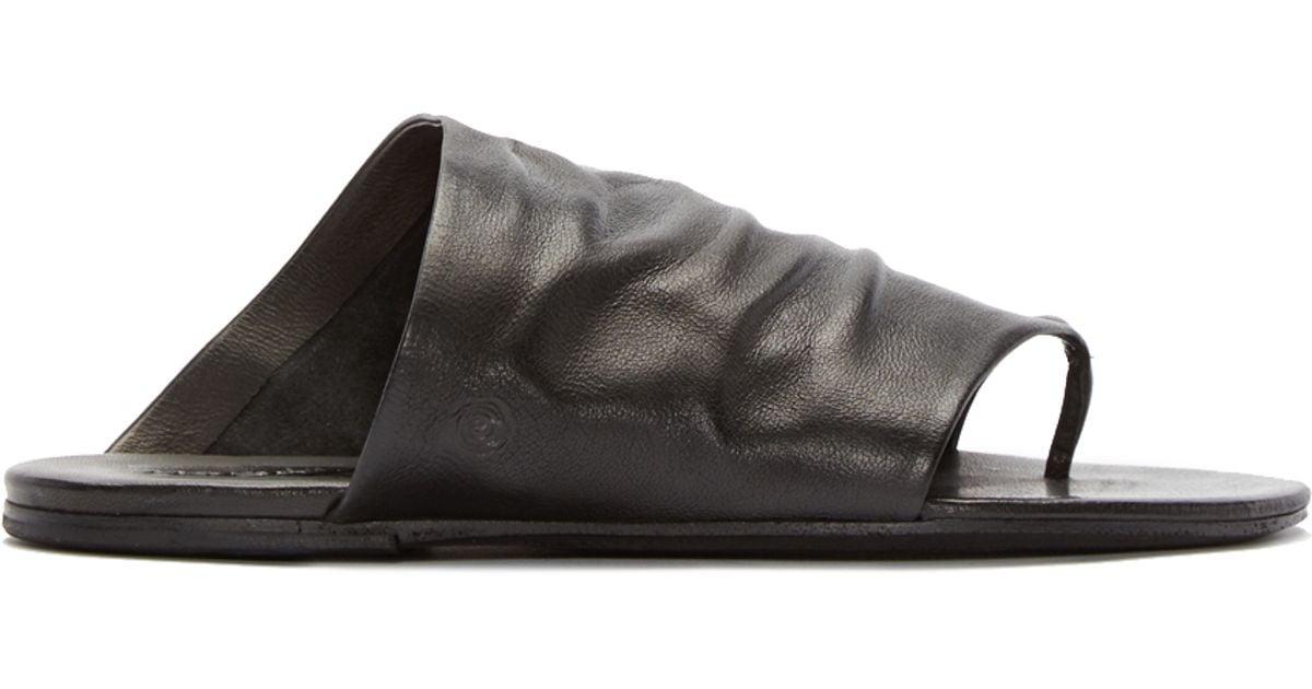 ebc12ecf427235 Lyst - Marsèll Black Leather Arsella Sandals in Black