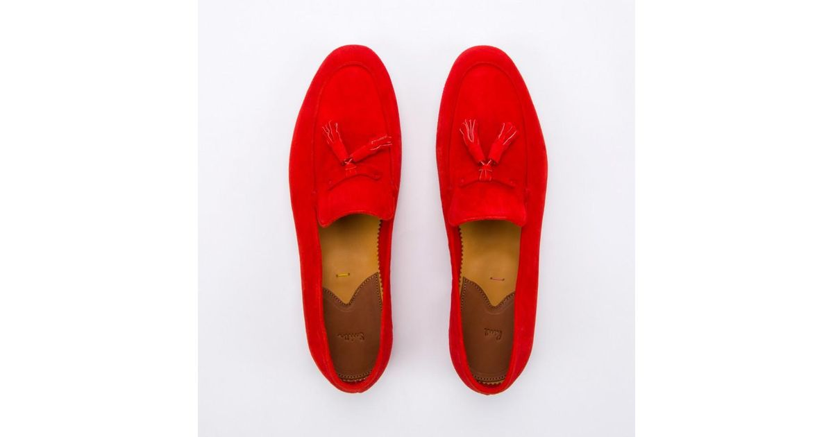 a7842aaae40 Paul Smith Women S Red Suede Tasseled  Stevenson  Loafers in Red - Lyst