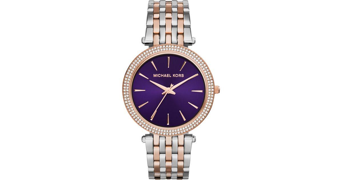 f4bee71f96b8 Lyst - Michael Kors Women S Darci Two-Tone Stainless Steel Bracelet Watch  39Mm Mk3353 in Gray