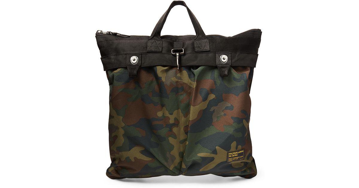 8cd222097a Lyst - Polo Ralph Lauren Nylon Camouflage Helmet Bag in Green for Men
