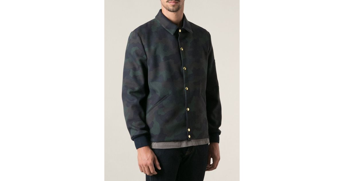 be2606bf199 In Bomber By Green For Ps Jacket Camouflage Lyst Men Paul Smith Sq0xnXxfUw