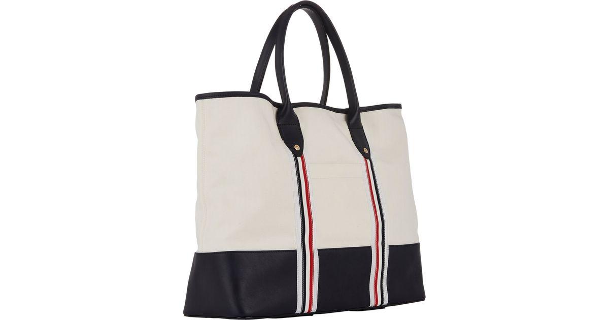 e6cd9b5982 Thom Browne Beach Bag in Natural for Men - Lyst
