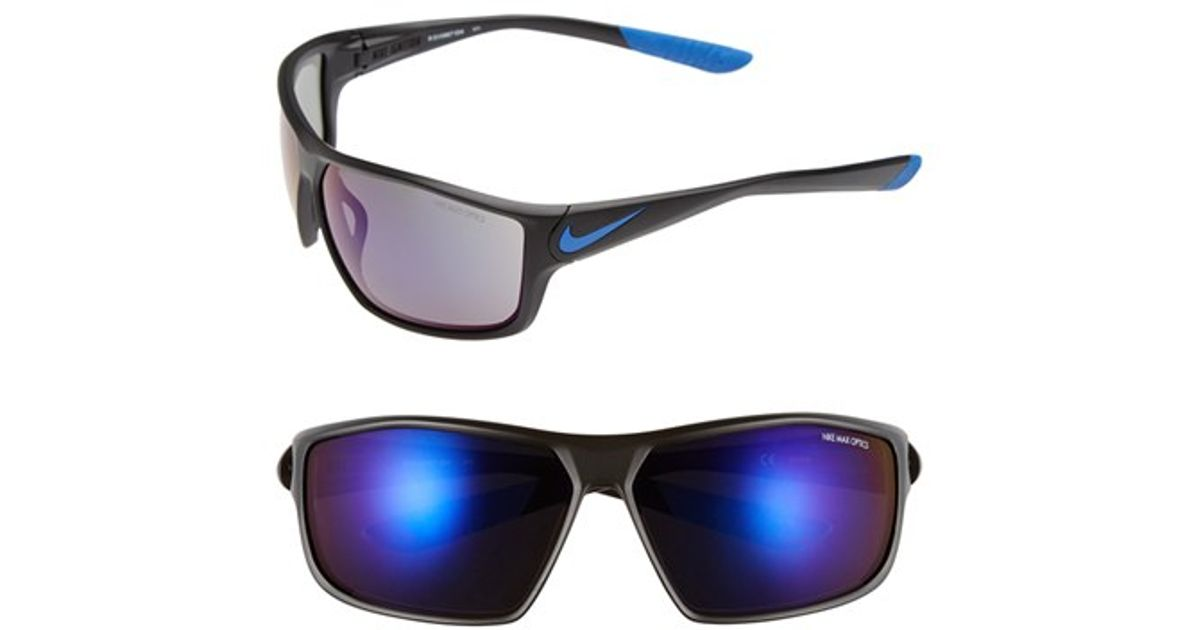 dacaf8ba7a Lyst - Nike  ignition  68mm Sunglasses in Black for Men