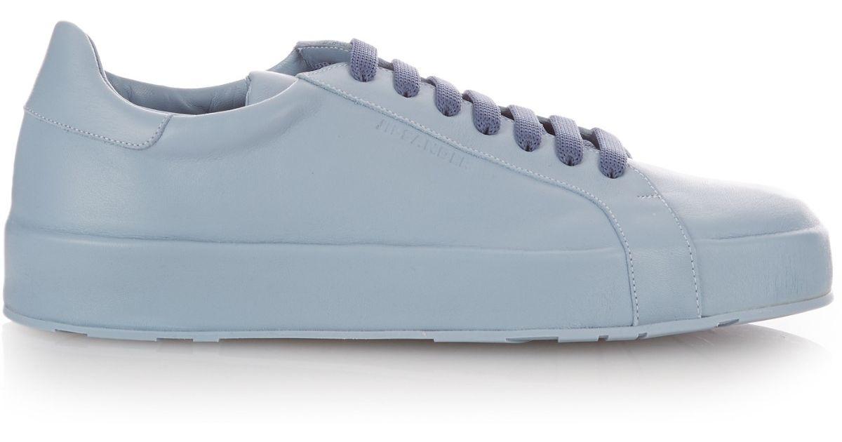 Chaussures De Sport En Cuir Bleu Clair XtvpAMHvc