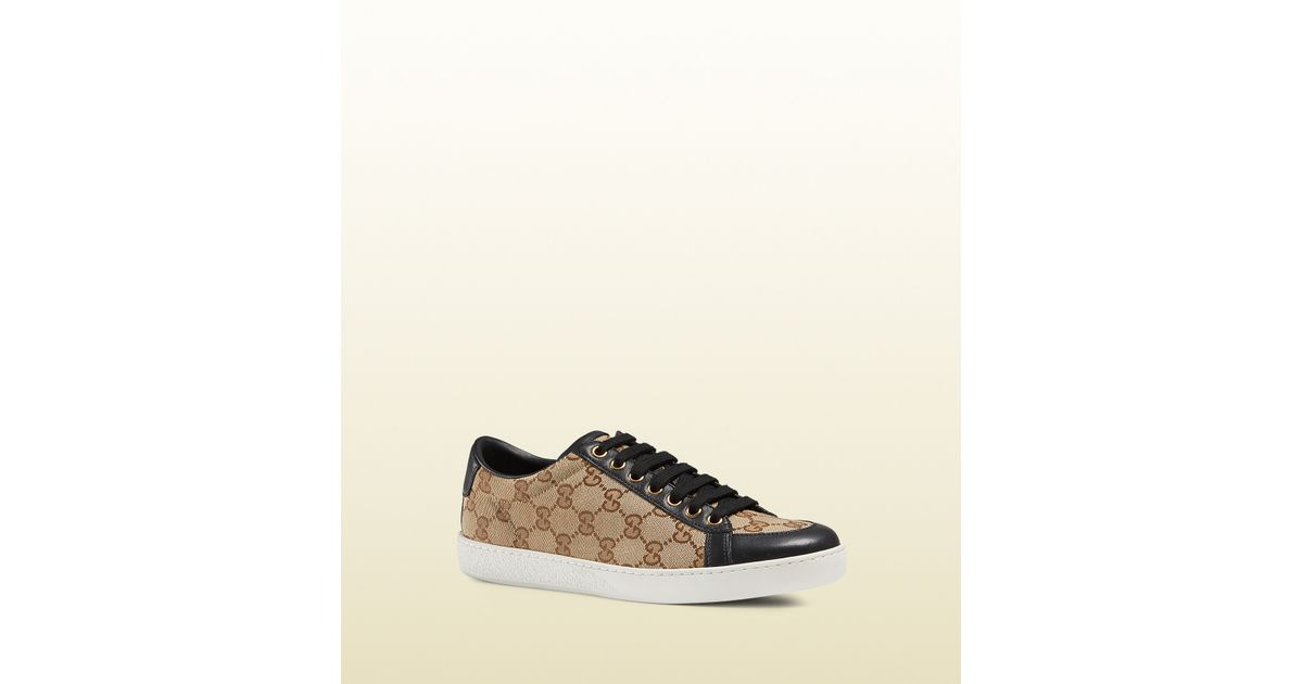 111674a8209d53 Lyst - Gucci Brooklyn Original Gg Canvas Lace-up Sneaker in Natural for Men