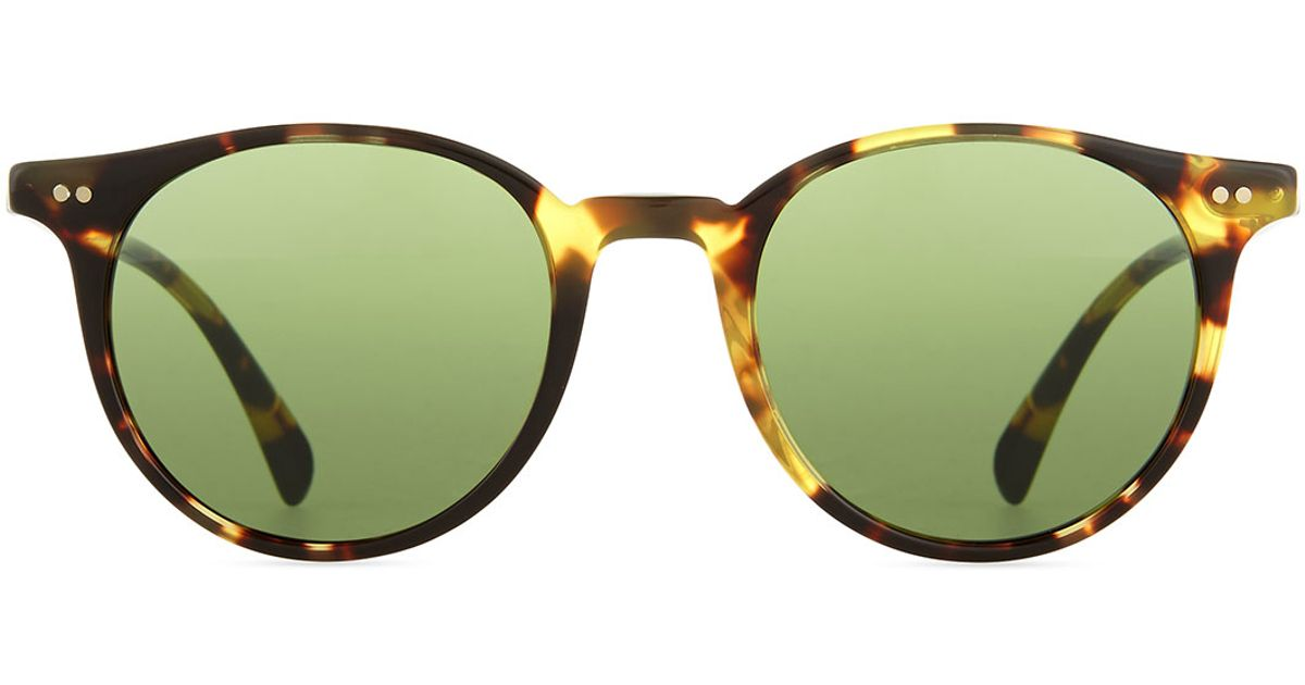 97979a83652 Lyst - Oliver Peoples Delray Sun 48 Round Sunglasses in Brown for Men