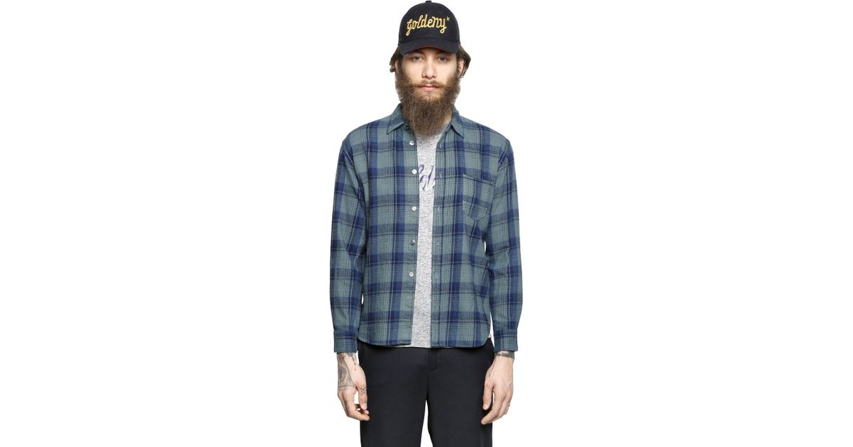 Golden goose deluxe brand plaid cotton flannel shirt in for Best flannel shirt brands