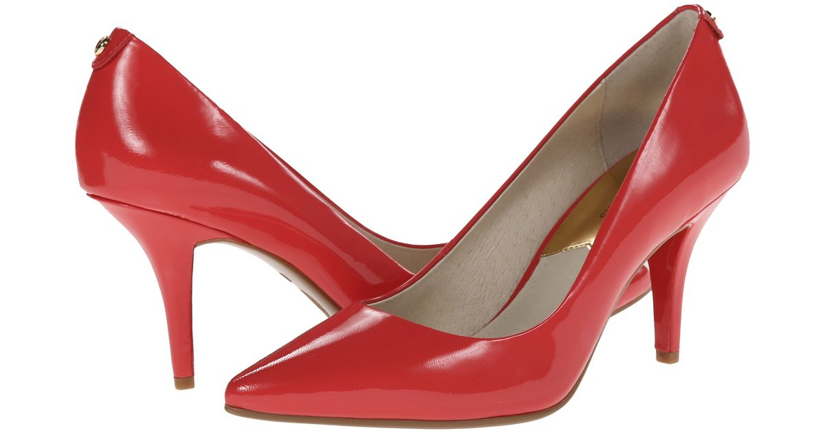 f0a3a00f60e1 Lyst - MICHAEL Michael Kors Mk-Flex Mid Pump in Red