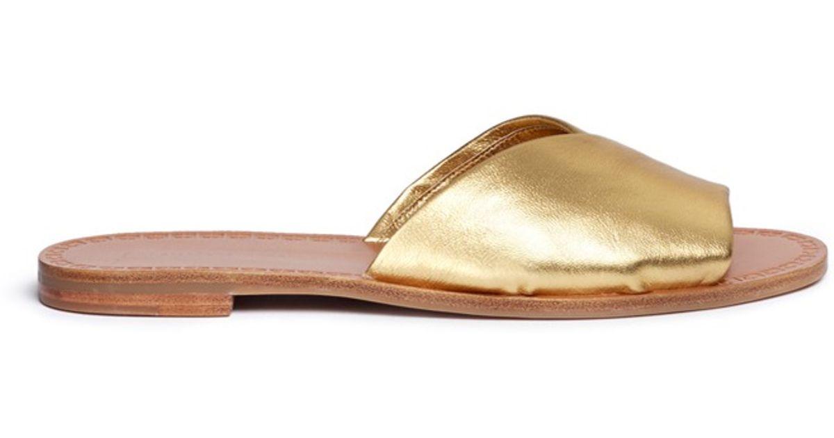 Diane von Furstenberg Leather Slide Sandals store sale new arrival cheap price authentic online enjoy cheap price sale find great 1CpT8jJ