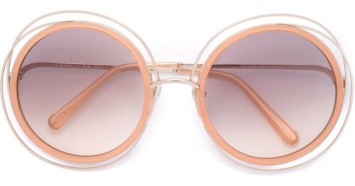 c7907a8db90 Lyst - Chloé  carlina  Sunglasses in Pink