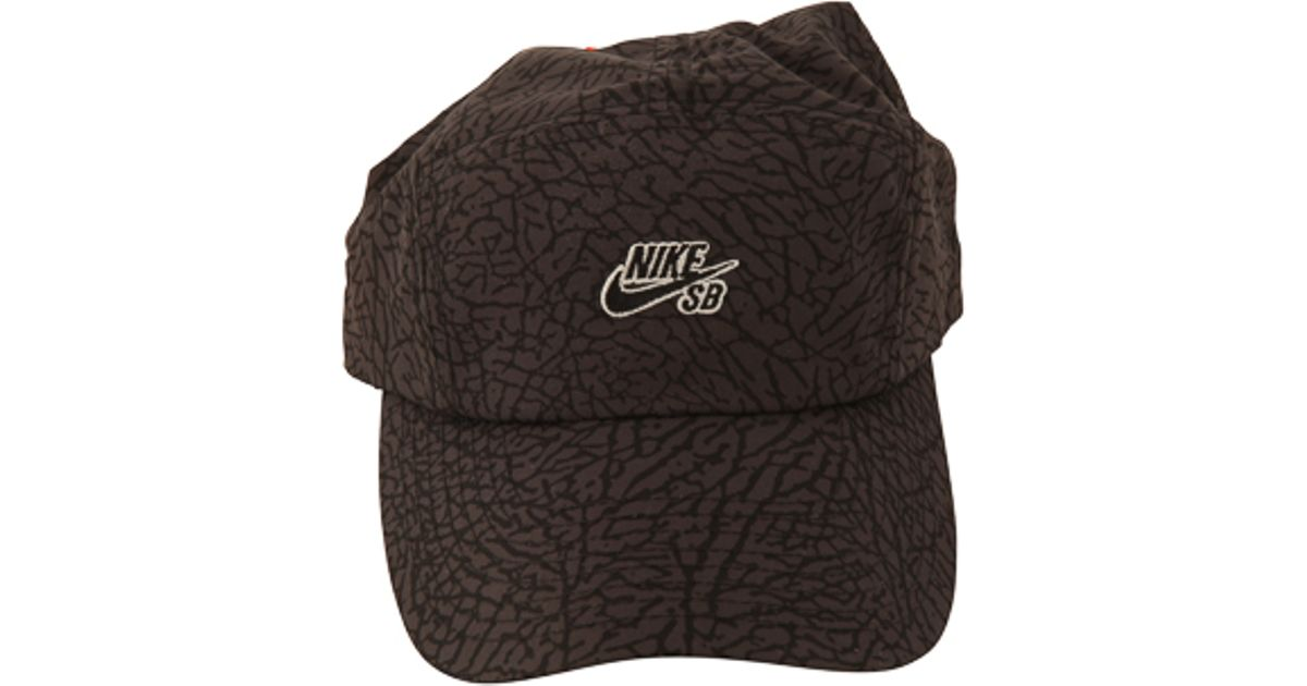 97b52c2a3c4 Lyst - Nike Sb 5 Panel Jordan Print Cap in Black for Men