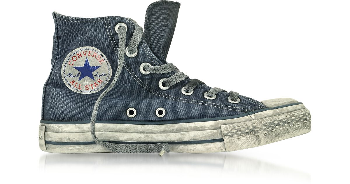243f64aa Converse All Star High Navy Smoked Canvas Ltd Sneaker in Blue for Men - Lyst