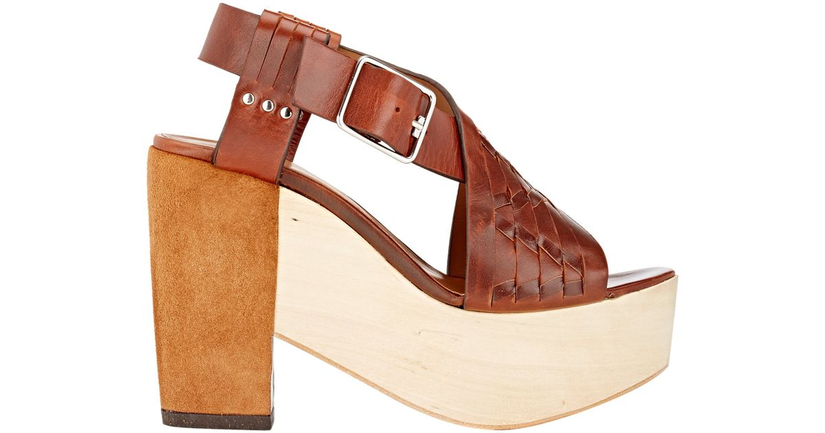 Thakoon Addition Leather Platform Sandals for sale for sale discount real tZ5J1
