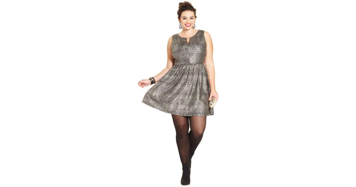 Plus Size a Line Dress