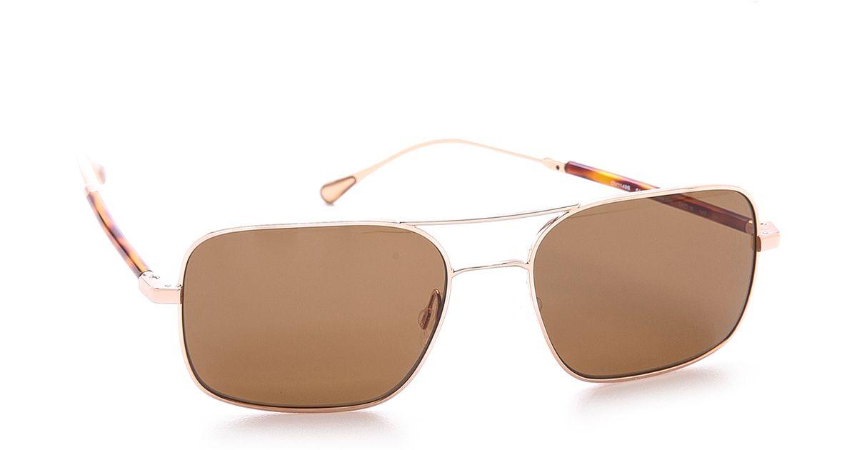 43b752437f Lyst - Oliver Peoples De Oro Gold Sunglasses in Metallic for Men