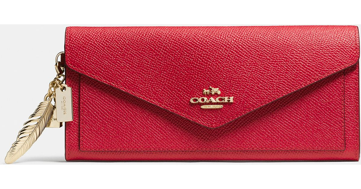Red Leather Coach Wallet
