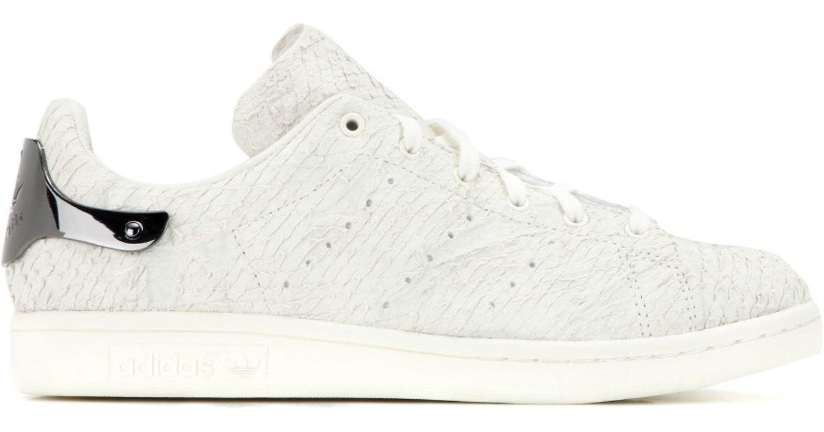 Adidas Stan Smith Abbelliti Scamosciato Scarpe In Bianco Lyst