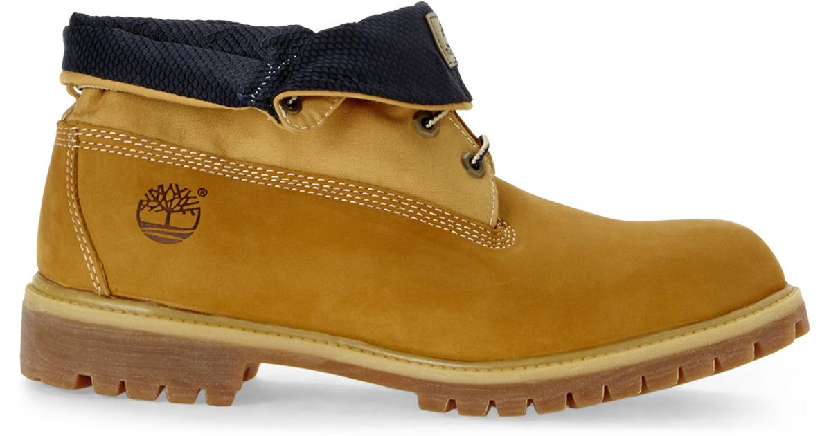 Lyst - Timberland Wheat   Navy Af Roll Top Boots in Natural for Men 3a226d7c708