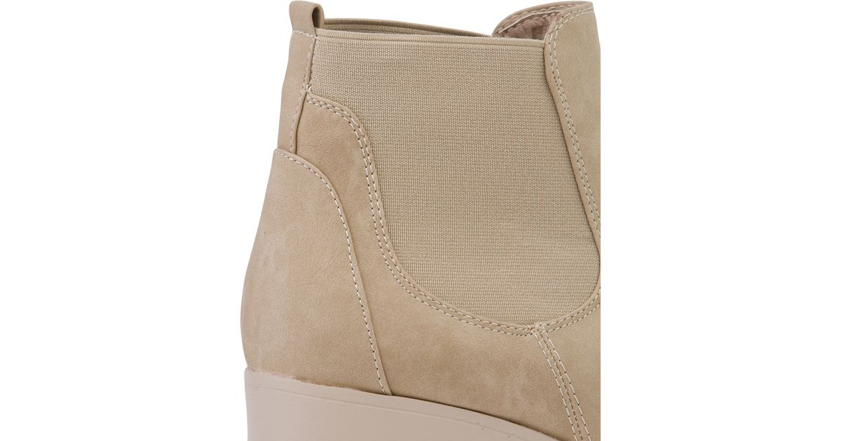 ba5639922c473c AKIRA Chunky Platform Chelsea Boots in Natural - Lyst