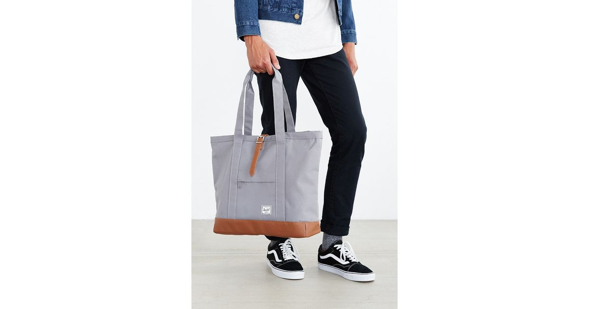 18afe07520b8 Lyst - Herschel Supply Co. Market Contrast Bottom Xl Tote Bag in Gray for  Men