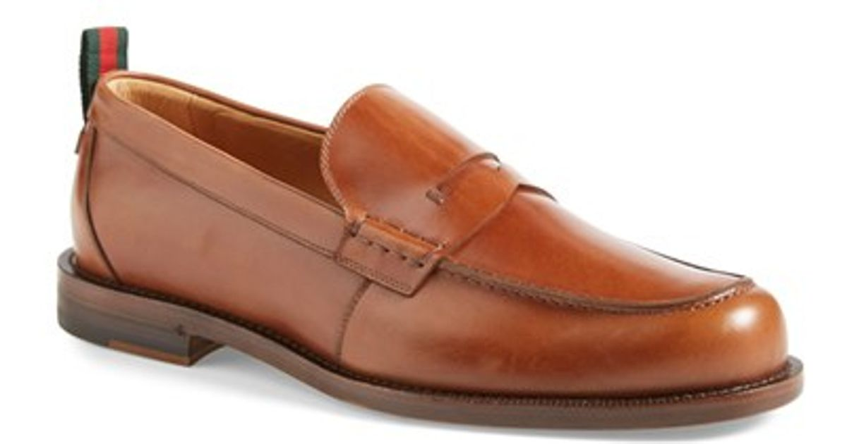 b253c496f48 Lyst - Gucci  tobias  Penny Loafer in Brown for Men