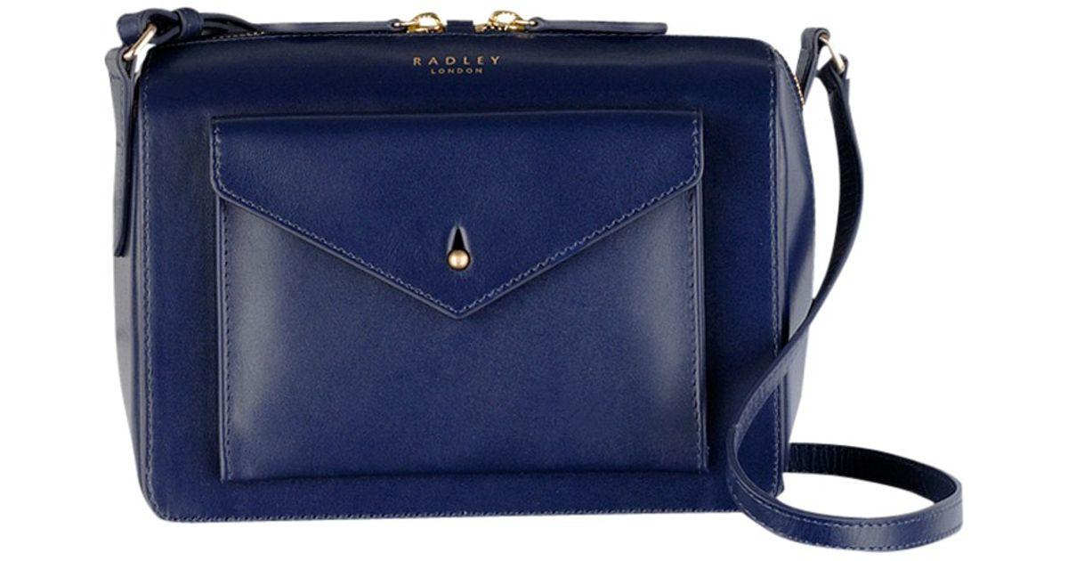 09bf179a162c Radley Keats Grove Small Leather Acrossbody Bag in Blue - Lyst