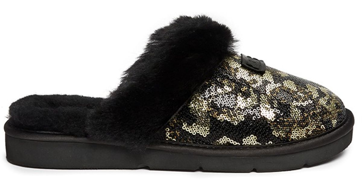 41126ed5e64 UGG  dazzle Pinecone  Sequin Slippers in Metallic - Lyst
